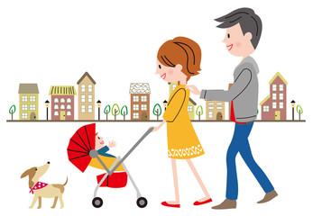 家族 散歩