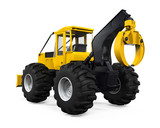 Grapple Skidder Isolated poster