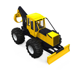 Grapple Skidder Isolated