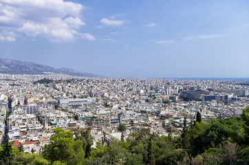 View to the city of Athens, Greece