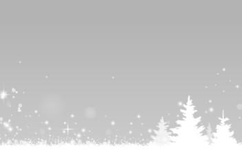 Winterwald Schnee grau