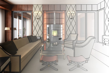 Suite with fireplace (project)