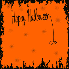 Festive Halloween background with empty space