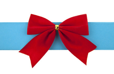 red bow and blue ribbon