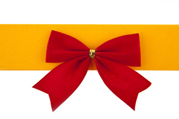 red bow and orange ribbon