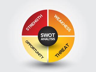 Swot Business Infographic presentation diagram