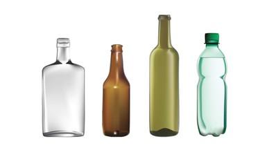 vector illustrations of bottles