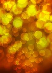 Abstrakter Hintergrund, Bokeh Effekt, Lichter, Goldgelb, golden