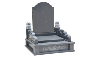 Tombstone with white background
