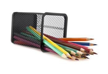 pencils in a basket