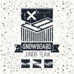 Snowboard junior team emblem