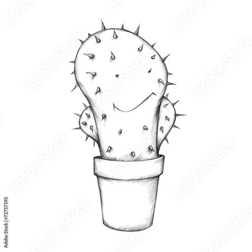 canvas print picture Freundlicher Kaktus