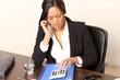 Businessfrau genervt