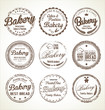 Bakery retro grunge stamp collection