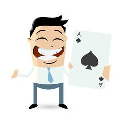 ass poker spielen business mann