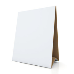 3d clean white and original brown papers carton desk display
