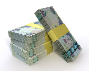 Stack Dirham Bank Notes