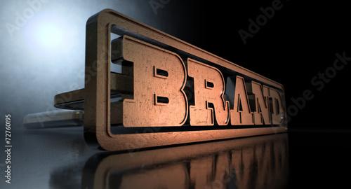 Leinwanddruck Bild Branding Brand Concept