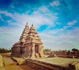 Shore temple - World  heritage site in  Mahabalipuram, India poster