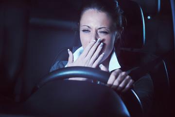 Distracted driving at night