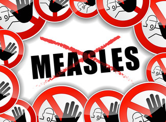 no measles abstract concept