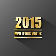 """CARTE """"MEILLEURS VOEUX 2015"""" (bonne année 2015 joyeuses fêtes)"""