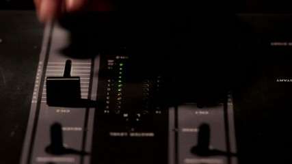 DJ using his mixer
