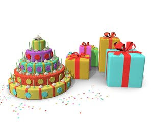 Sinterklaas feest met taart en kadootjes