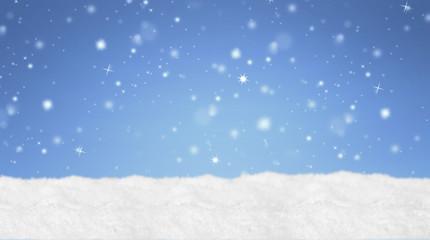Weihnachtshintergrund / Schnee / Himmel