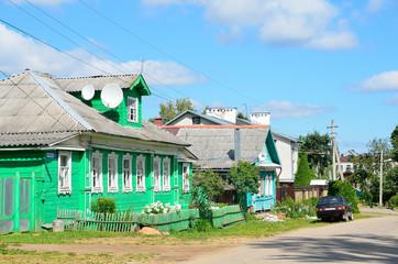 Тверская область, город Кашин, улица Московская летом