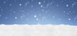 canvas print picture - Winterlicher Hintergrund
