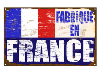 Fabrique En France Enamel Sign