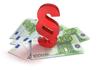 100 Euroscheine mit rotem Paragraph