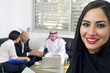 Arabian Businesswoman with Businesspeople in background