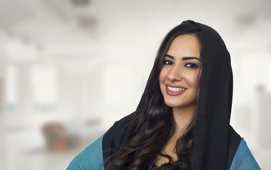 Arabian woman wearing Abaya