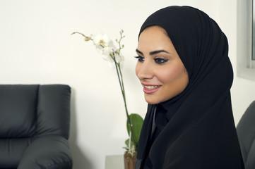 Arabian Businesswoman wearing Hijab in office