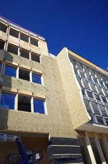 isolation d'immeuble - laine de bois