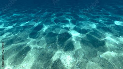 Aluminium Koraalriffen Surface of sand under water
