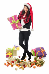 Nikolausfrau mit Geschenke