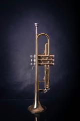 Trumpet on wrinkled background