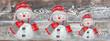 weihnachtsdeko - schneemann