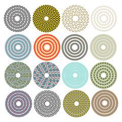 Decorative ornamental circles