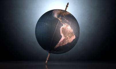 Tilted World Globe