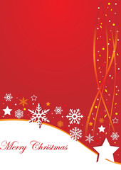 Red christmas background with stars and stripes