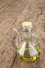 Olive oil on old wood