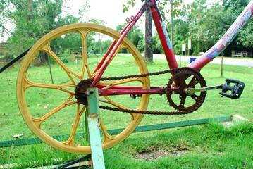 rusty bicycle chain
