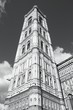 Florence campanile - black and white image