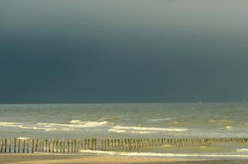 orage sur la côte