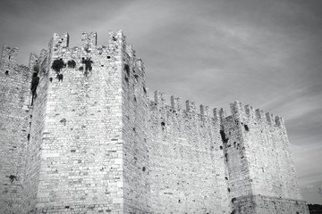 Tuscany - Prato castle - black and white image