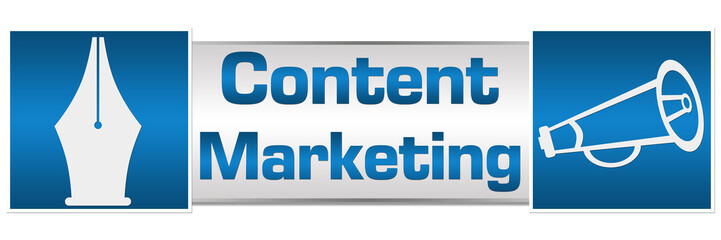 Content Marketing Blue Squares